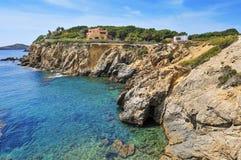 Northeastern coast of Ibiza Island, Spain Royalty Free Stock Image