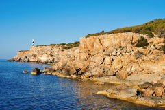 Northeastern coast of Ibiza Island, Spain Stock Image