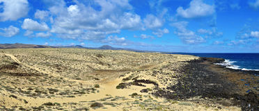 Northeastern coast of Lanzarote, Canary Islands, Spain Royalty Free Stock Photography