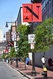Northeastern University in Boston, Massachusetts. It is a private research university established in 1898 stock images