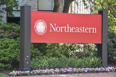 Northeastern University in Boston, Massachusetts stock images