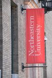 Northeastern University in Boston, Massachusetts. It is a private research university established in 1898 royalty free stock image
