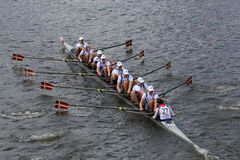 Northeastern  University races in the Head of Charles Regatta Royalty Free Stock Photography