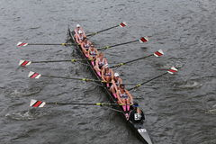 Northeastern University races in the Head of Charles Regatta Women's Championship Eights Stock Image