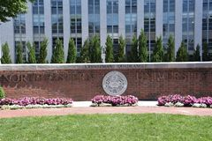 Northeastern uniwersytet w Boston, Massachusetts zdjęcie stock