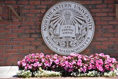 Northeastern uniwersytet w Boston, Massachusetts obraz stock