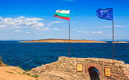 Northen tower with entrance to the fortress of sozopol. SOZOPOL, BULGARIA - SEPTEMBER 08, 2013: Northen tower with entrance to the fortress of sozopol. European Stock Photos