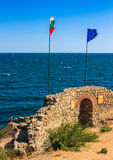 Northen tower with entrance to the fortress of sozopol. SOZOPOL, BULGARIA - SEPTEMBER 08, 2013: Northen tower with entrance to the fortress of sozopol. European royalty free stock photography