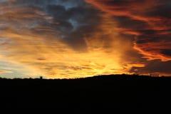 Norther azul em Texas, imediatamente antes do por do sol imagem de stock