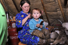 Northern aboriginals. Russia. Yamal. Nadym. Stock Photo