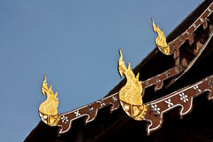 Northern Architecture. At a Buddhist temple in North of Thailand Stock Photo