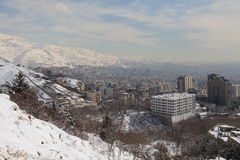 Northern area of Tehran city. In winter royalty free stock photo
