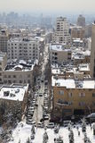 Northern area of Tehran city. In winter royalty free stock photos