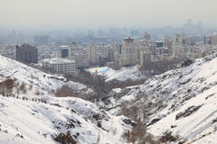 Northern area of Tehran city Royalty Free Stock Photo