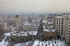 Northern area of Tehran city. In winter stock image