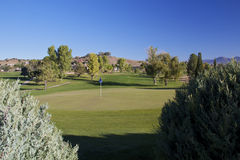 Northern Arizona Golf Hole. A scenic view of a golf hole in northern arizona Stock Photos