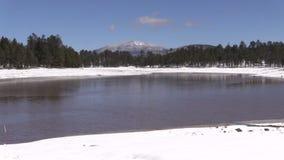 Northern Arizona Lake in Winter stock video footage