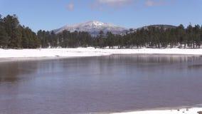 Northern Arizona Lake in Winter stock video