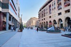 Northern Avenue, Yerevan, Armenia. YEREVAN, ARMENIA - MAY 02, 2015:Northern Avenue is a pedestrian avenue opened in 2007. There are luxurious apartments, elite stock image