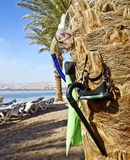 Northern beach of Eilat city Royalty Free Stock Photography