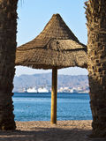 Northern beach in Eilat city, Israel Royalty Free Stock Photography