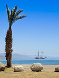 Northern beach of Eilat, Israel Stock Images