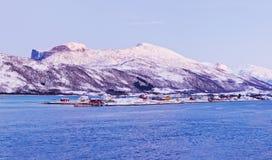 Northern Beauty. Panorama. Polar Night In Norway. Stock Photos