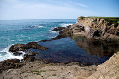 Northern California Coast. Line new Fort Bragg Royalty Free Stock Photography