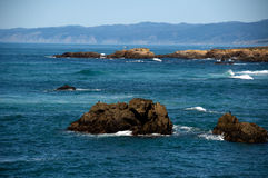 Northern California Coast. Line new Fort Bragg Stock Images
