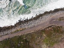 Northern California Coast. Areal view of a coast in Northern California Stock Photography