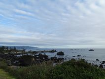 Northern California coastline looking south From Crescent City stock image