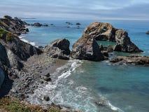 Northern California coastline. The rocky Pacific coast in Northern California Royalty Free Stock Photo