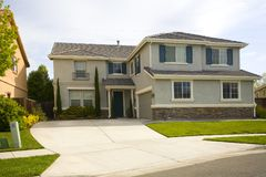 Northern California Subruban Home. Shot of a Northern California Suburban Home stock photography