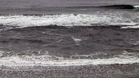 Northern California Waves Coming Into Beach 2 No Sky stock footage