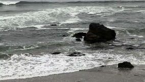 Northern California Waves Coming Into Beach 3 No Sky stock video