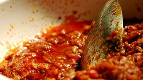 Northern chili paste stock image