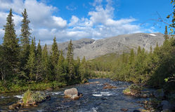 Northern Chorrgor Pass in Khibiny Mountains Royalty Free Stock Images