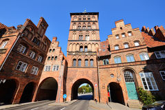 The Northern city gate of Lubeck Burgtor, Germany Stock Photography