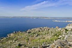 Northern Coast of the Maltese islands Stock Photo