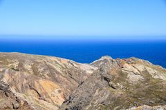The northern coast near Camacha in Porto Santo, Madeira, Portugal royalty free stock photo