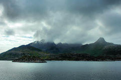 Northern coast of Norway royalty free stock images