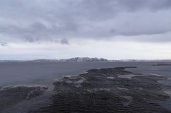 Northern coast of the peninsula Koni. Sea of Okhotsk, Magadan region. State Reserve Magadanskiy Royalty Free Stock Photo