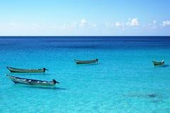 Northern coast of Socotra Island. Fishing boats on northern coast of Socotra Island Royalty Free Stock Photo