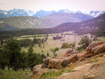 Northern Colorado Estes Park Colorado Rocky Mountain National Park. Northern Colorado Estes Park Trail Ridge Drive Rocky Mountain National Park royalty free stock image