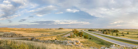 Northern Colorado prairie panorama Royalty Free Stock Photo