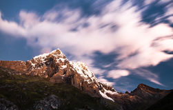 Northern Cordillera Huayhuash at Dusk, Peru Stock Images