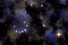 The Northern Crown. This image shows the constellation from the Northern Crown (Corona Borealis vector illustration