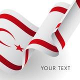 Northern Cyprus flag. Patriotic design. Vector illustration. Northern Cyprus flag. Patriotic design. Waving flag Stock Photography