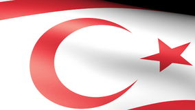 Northern Cyprus Flag Waving vector illustration