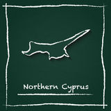 Northern Cyprus outline vector map hand drawn. Royalty Free Stock Photography